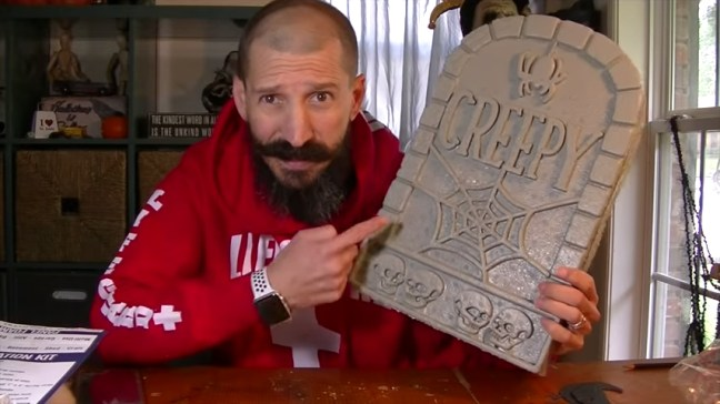 Upgrade Your Cheap Dollar Store Halloween Tombstones With Gray Paint