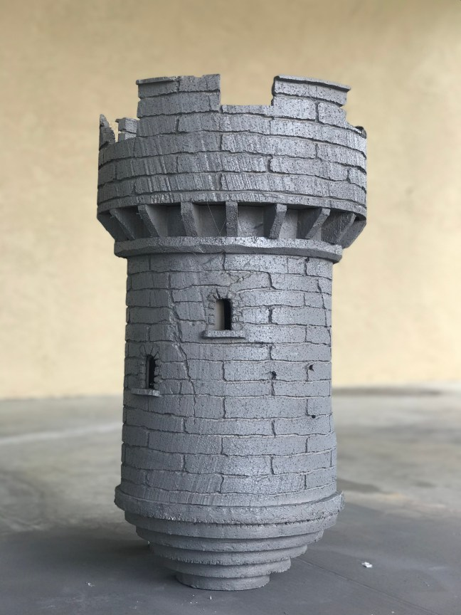 Foam Halloween Office Decoration DIY Castle With Full Coat of Primer Paint