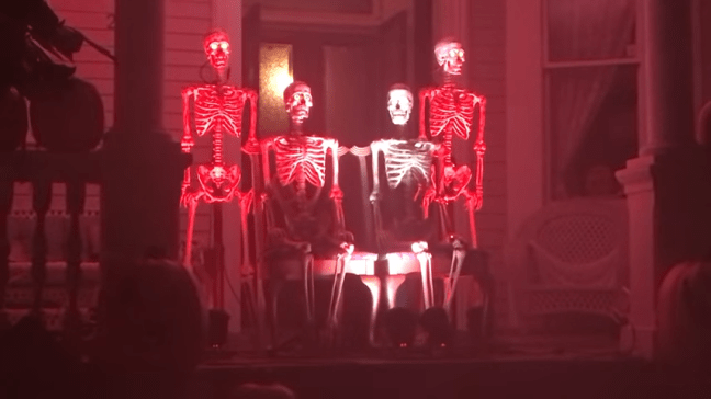 Ghost Manor Halloween Decorated House Show Skeletons Singing