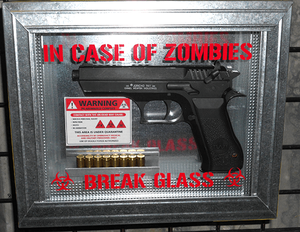 Zombie-Works In Case Of Zombies Break Glass Weapon And Case