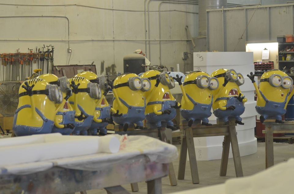 Unique Rabbit Studios Life Size Minion Props