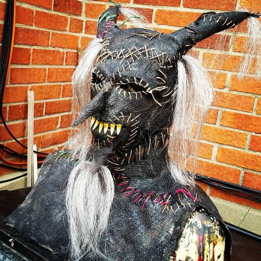 Sinister FX Burlap Black Horn Mask