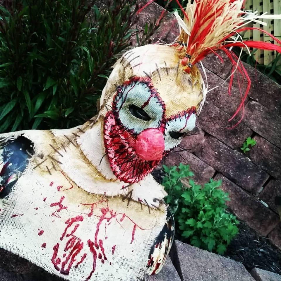 Sinister FX Burlap Clown Rooster Mask