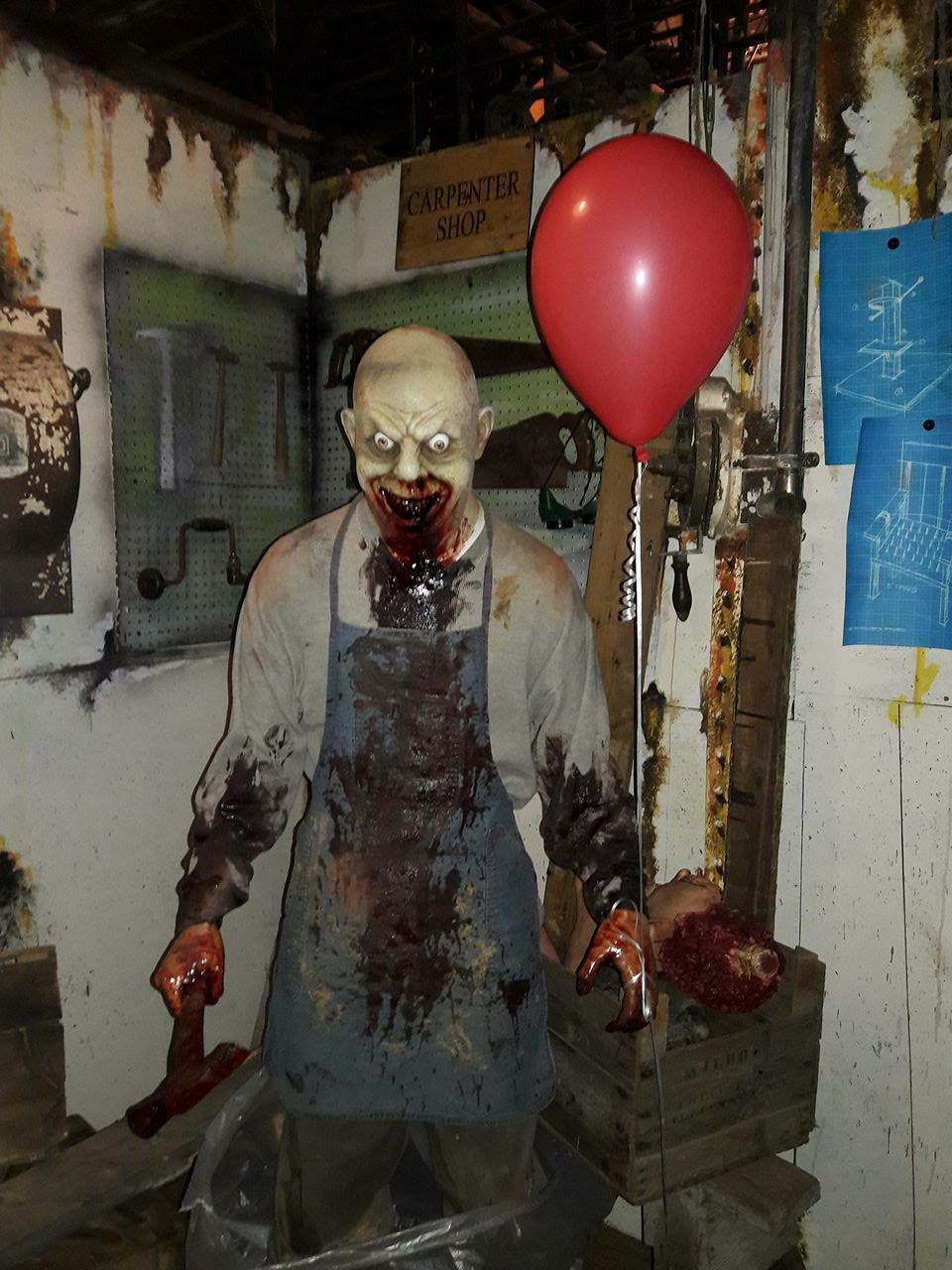 USS Nightmare Haunted Dredge Boat Butcher With Balloon