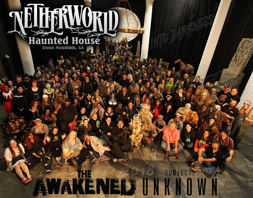 Netherworld Scariest Haunted House Actor Group Photo