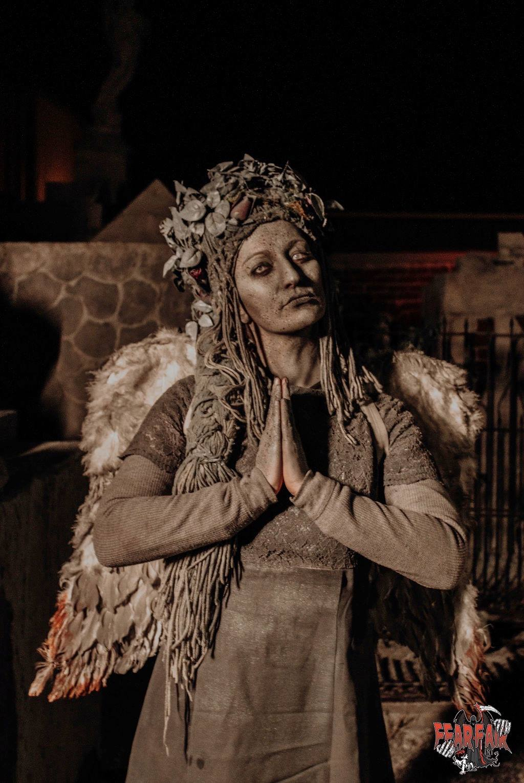 Fear Fair Indiana Scariest Haunted House Woman Statue Costume