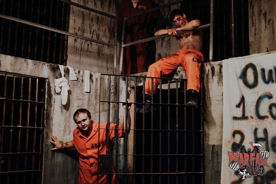 Fear Fair Indiana Scariest Haunted House Prison Riot Scene