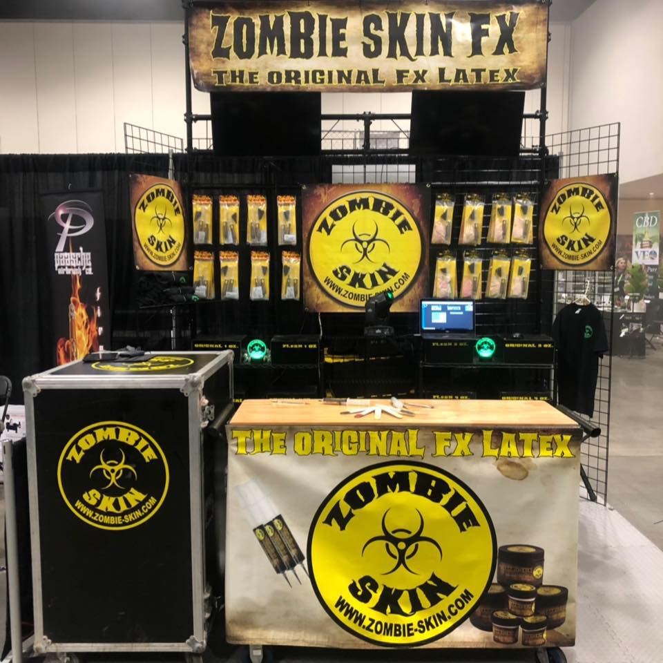 Zombie Skin Special FX MakeupExpo Booth