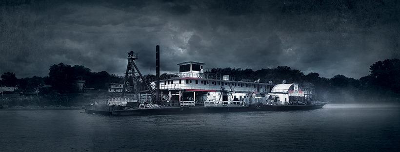 USS Nightmare Haunted Dredge Boat Storm