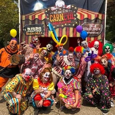 The Dent Schoolhouse Clown Staff