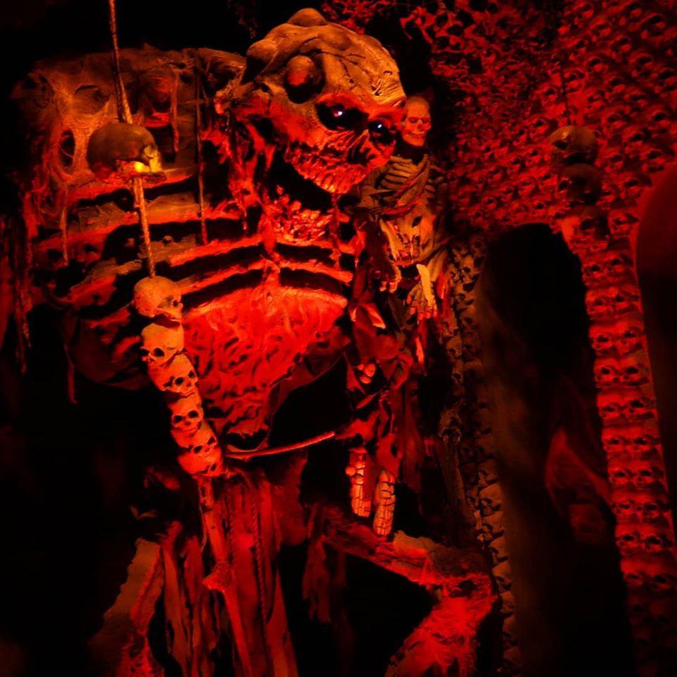 The Dent Schoolhouse Interior Skeleton Scene