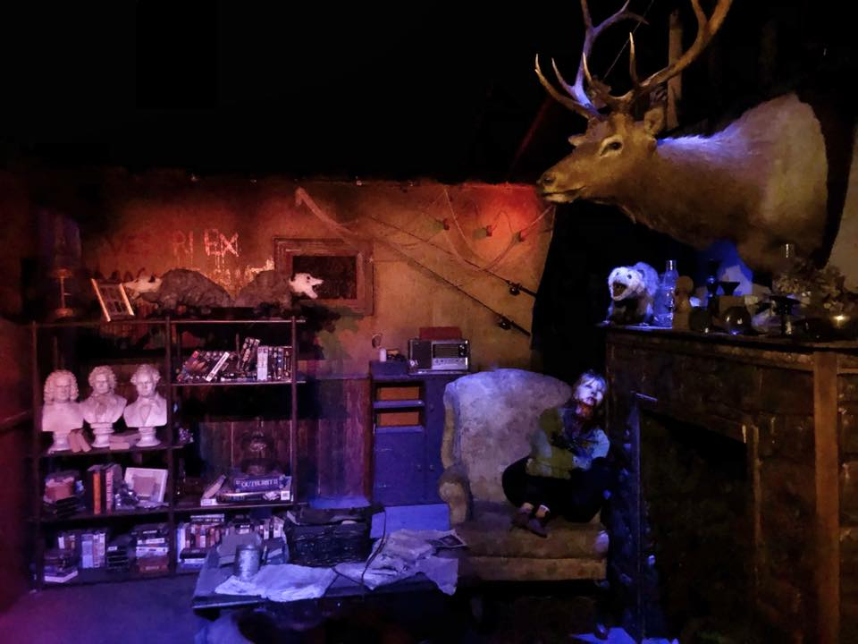 Hundred Acres Manor Haunted House Library Scene