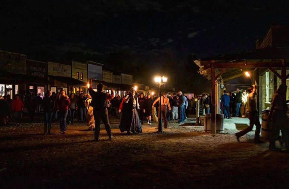 All Hallows Eve Terror Town Ohio Scariest Haunted House Town Square Scene