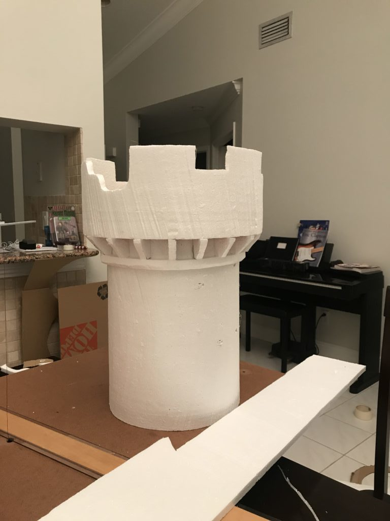 Hot Wire Foam Castle Halloween Office Decoration Idea