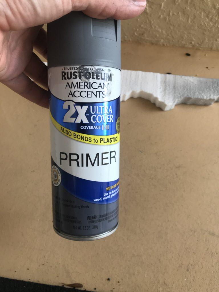 Rustoleum Primer Spray Paint for Halloween Props