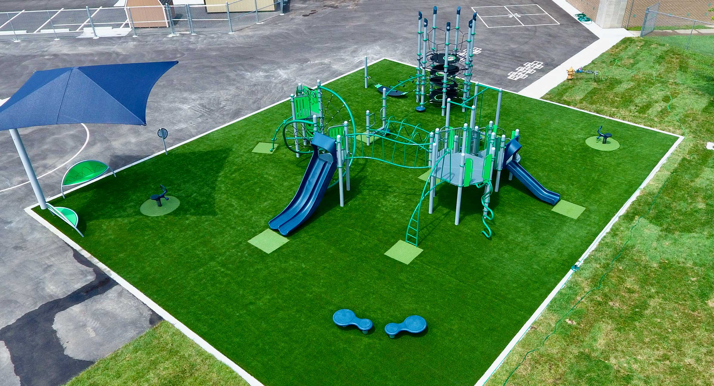 artificial grass playground installers