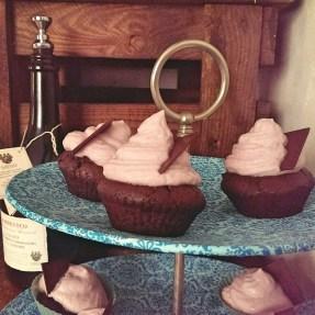 Vegan redwine cupcake