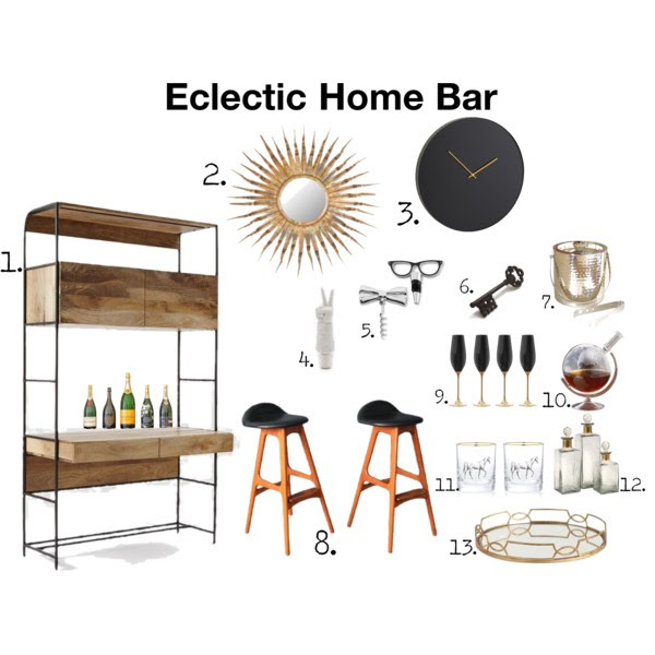 Eclectic Home Bar