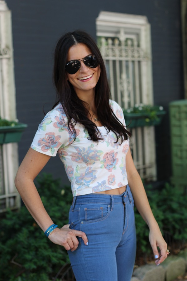 My Favorite Combo- Crop Top & High Waist Jeans - 5