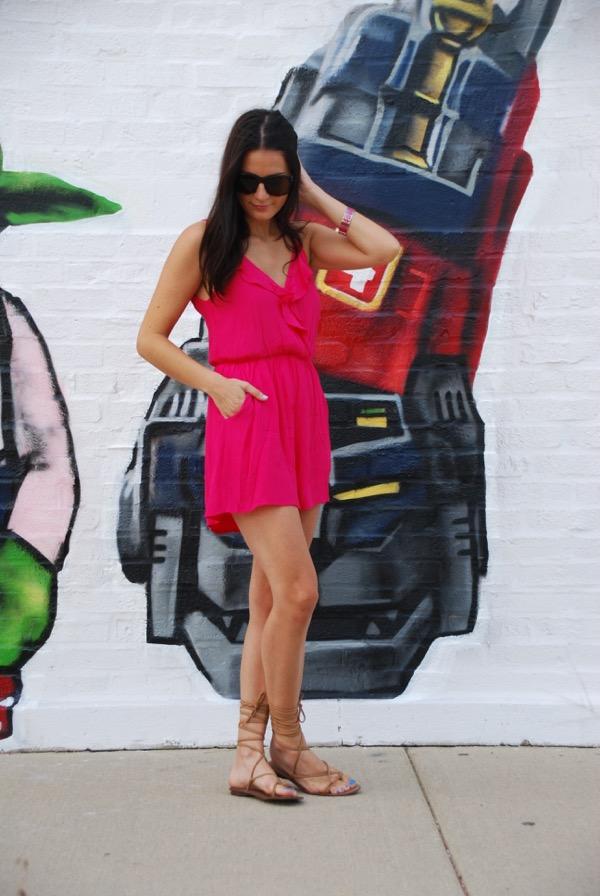 pink romper - 9