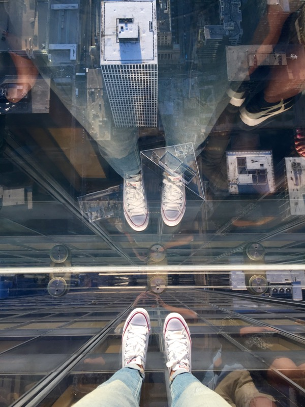 from where I stand at the Willis Tower Skydeck