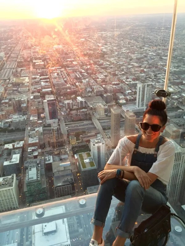 Skydeck Chicago at sunset