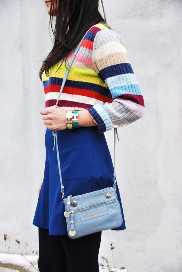 hermes bangles and gap stripe sweater