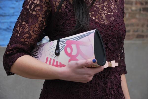 pink patricia field barbie magazine clutch