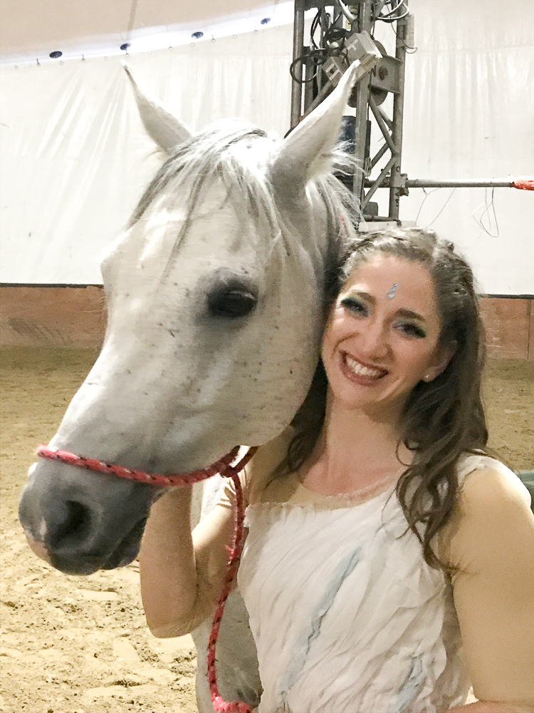 backstage at Cavalia