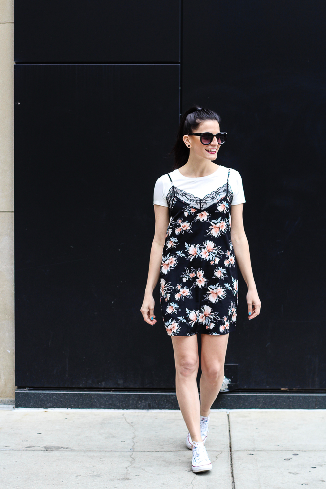 how to style a slip dress for day
