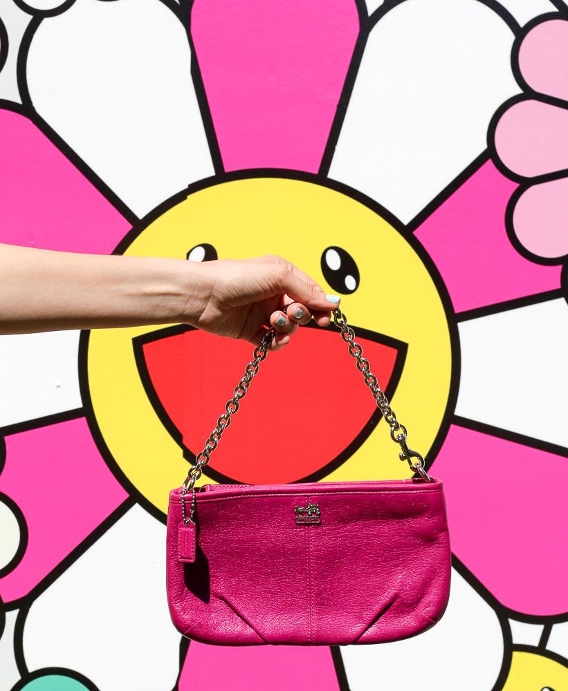 pink coach mini handbag