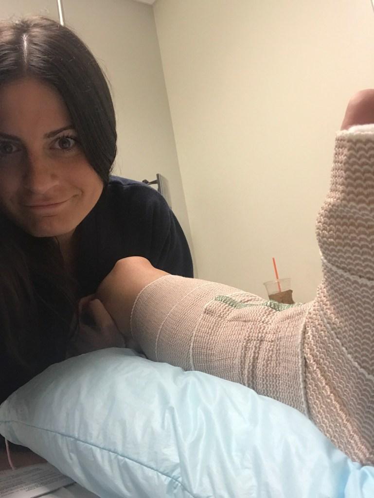 yep, broken foot status