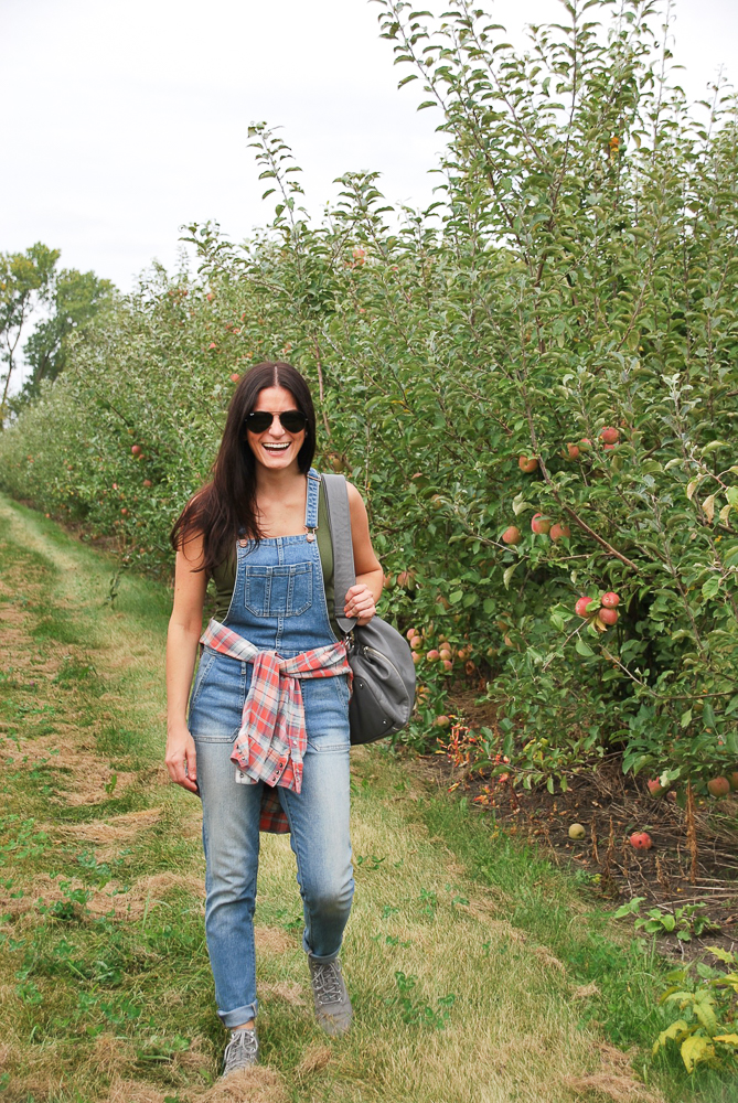 happiness is at an apple orchard