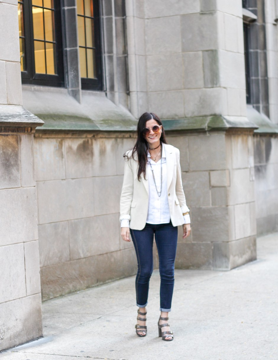 blazer and jeans combination