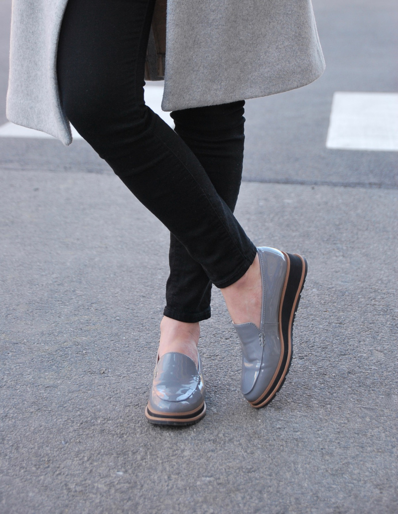 franco sarto cypress loafers in gray