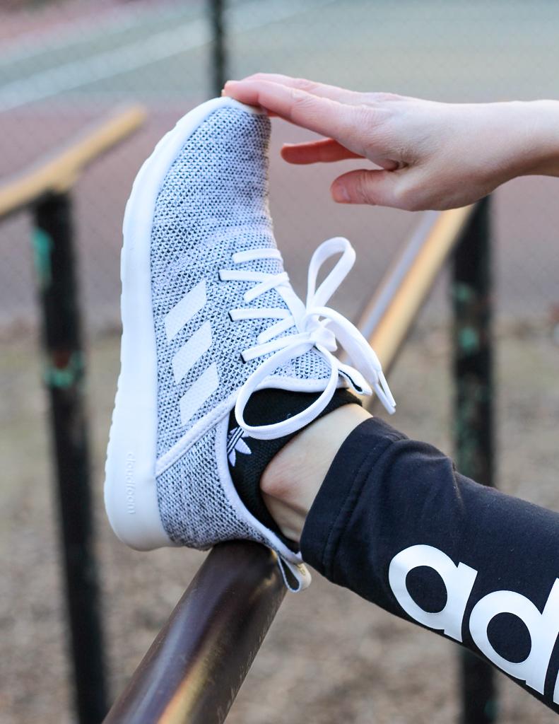 white adidas cloudfoams