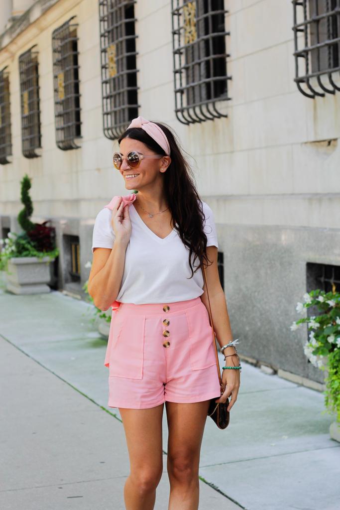 pink knotted headband