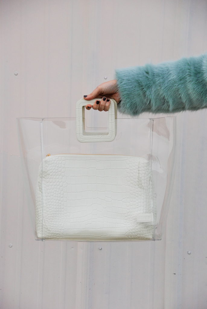 clear staud handbag large