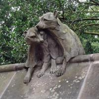 Cardiff Castle animal wall