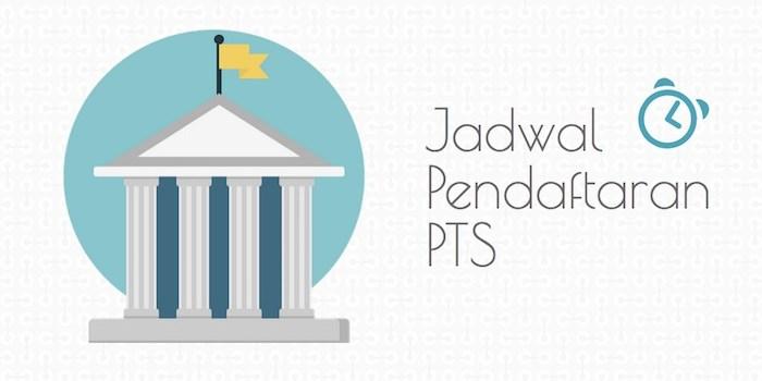 Update Jadwal Pendaftaran PTS 2016/2017
