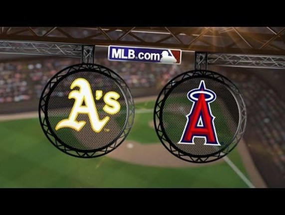 A's at Angels