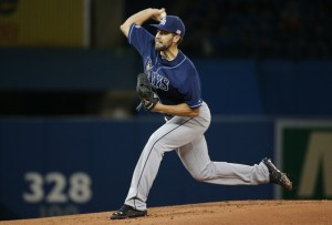 Nate Karns delivers a pitch during the first inning of a game against the Toronto Blue Jays at Rogers Centre on September 12, 2014 (Tom Szczerbowski/Getty Images)