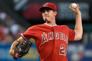 Andrew Heaney delivers a pitch during the second inning of a game against the New York Yankees at Angel Stadium on June 30, 2015 (Lisa Blumenfeld/Getty Images)