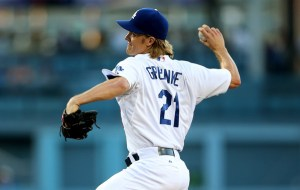 Zack Greinke delivers a pitch during a game against the Philadelphia Phillies at Dodger Stadium on July 9, 2015 (Stephen Dunn/Getty Images)