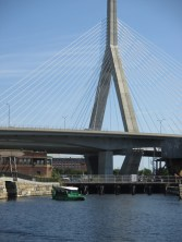 Duck boat enters the Charles