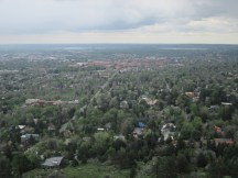 CU campus from up on the Flatirons