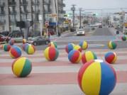 beach ball sculpture