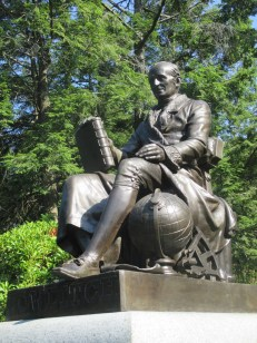 Bowditch, navigation - 1st life-size brass statue in US