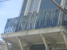 on balconies