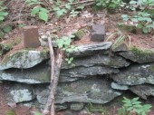 bricks on foundation